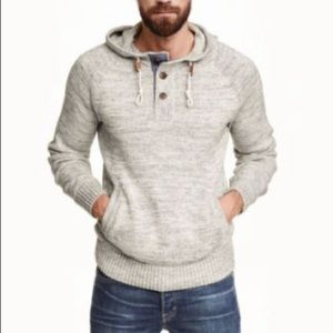 Men's H&M hooded pullover sweater